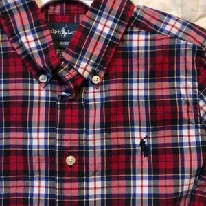 Worn 1x! Ralph Lauren Plaid Button Down Shirt
